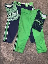 boombah green and navy volatage softball uniform size S (30)