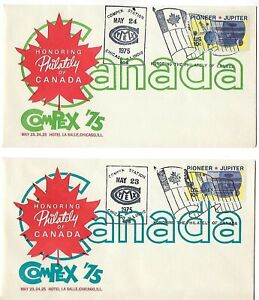 3 Compex '75 show covers Honoring Philately of Canada
