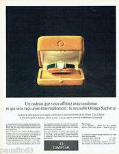 PUBLICITE ADVERTISING 026  1962  Omega  montre Saphette