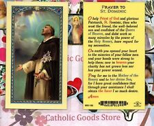 St. Dominic - Prayer to Saint Dominic - Laminated  Holy Card