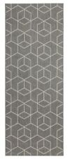 Contemporary Modern Grey White Geo Geometric Runner Rug NEW 80cm X 200cm