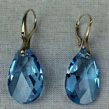 Swarovski Crystal Pear Costume Earrings