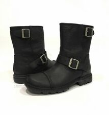 UGG 3040 ROCKVILLE II MENS MOTORCYCLE BOOTS WATER RESISTANT BLACK LEATHER -US 10