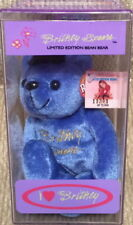 "BRITNEY SPEARS 1999 TEDDY BEAR 9"" Bean Bag PLUSH Toy New w/Tags in Original Box!"