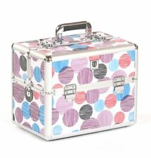 Vanity case Makeup box Cosmetic Beauty Nail Hair Jewellery Storage Purple Spot