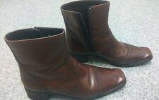 Vintage Ladies JANE SHILTON Ankle Boots Tan Brown Size UK 6 EU39 preworn  £24.75