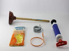 Abflussreinigung Rohrfrei Set Druck Rohrreiniger Pumpe Saugglocke Abflussspirale