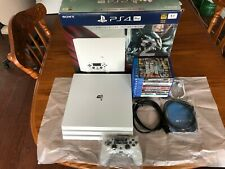 PS4 Glacier White Playstation 4 Pro Bundle With Games
