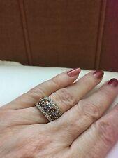 STUNNING 9ct Yellow Gold QVC Filigree Ring with Tanzanite & Diamonds size N1/2