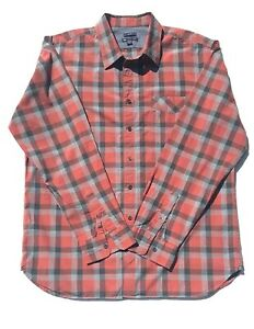 Gap Men's Long Sleeve Red Plaid Button Front Slim Fit Casual Shirt Size XL