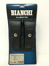 Bianchi 7902 Black AccuMold Double Mag Pouch Chrome Snap Closure 22084 - Size 4