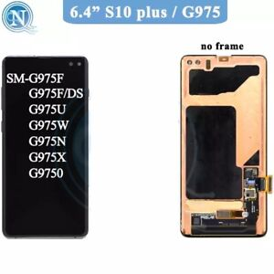 💯 SAMSUNG『S10 PLUS』S10+ G975 DISPLAY LCD & New Touch SCREEN !「Error SP●T Read」