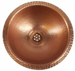 Handcrafted Polished Bright Natural Copper Bathroom Sink House Remodel Decor