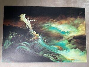 "VTG/Orig. '66 Frank Frazetta ""Sea Witch"" Linen Paper Poster - 15"" x 22.75"""