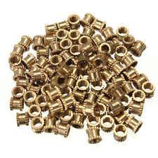 100pcs M3*4mm H62 Brass Knurl Nuts DIY Accessories