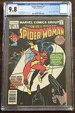SPIDER-WOMAN #1 CGC 9.8 New Origin Jessica Drew OW/W Pages Marvel Comics 1978