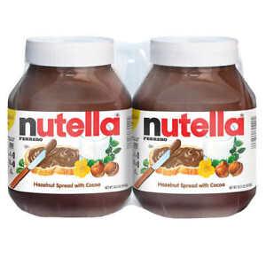 🔥 2Pk Ferrero Nutella Hazelnut Spread With Cocoa 33.5 oz Large Jar 🔥