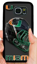 UM MIAMI HURRICANES PHONE CASE FOR SAMSUNG GALAXY & NOTE S5 S6 S7 EDGE S8 S9 S10