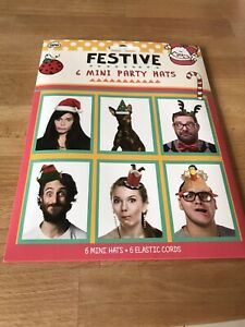 Pack of 6 Festive Mini Party Hats - New