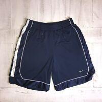 Mesh NIKE Shorts Athletic Blue Gym Shiny Polyester Vtg 90s MENS LARGE