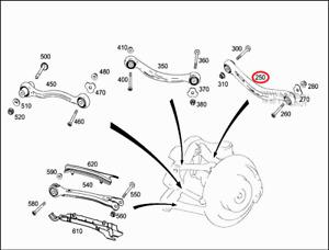 Mercedes-Benz AMG GLC63s C253 REAR CAMBER ARM LEFT A2533509307