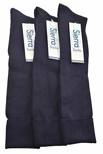 Sierra Socks Girls' School College Uniform Nylon Knee High 3 Pack Dress Socks