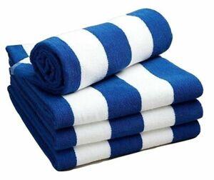 Luxury 100% Cotton Soft Beach Towel Pool Towel Cabana Striped Chlorine Resistant