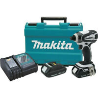 Makita 18V 1.5 Ah 1/4 in. Hex Impact Driver Kit XDT04CW Certified Refurbished