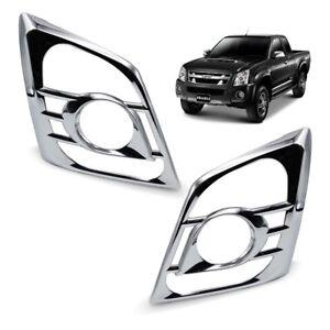 For Isuzu D-Max Holden Pickup 2007 2011 Front Head Lamp Light Cover Chrome Trim