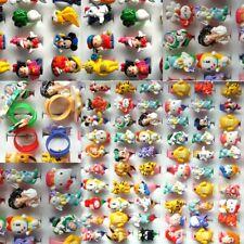 10Pcs Wholesale Mixed Ring Lots Cute Cartoon Children Kids Resin Rings Jewelry