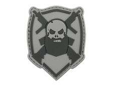 Bearded Skull PVC Patch PARCHE  AIRSOFT AEG SNIPER SOFTAIR