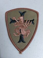 "(D24) KNIGHTS TEMPLAR LION CROSS 3-1/4"" x 2-1/2"" iron on patch Badge"