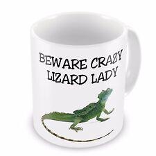 Beware Crazy Lizard Lady Novelty Gift Mug