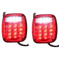 1X(2 PièCes LED Feu Stop Frein Clignotant Inverse pour Jeep Wrangler TJ CJ 7 BRT