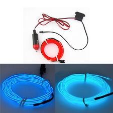 2M 12V Red Neon LED Light Glow EL Wire String Strip Rope Tube Car Interior Decor
