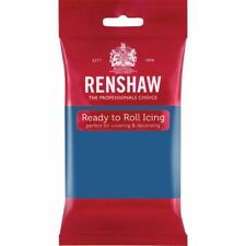Renshaw Ready Roll Icing Fondant Cake Regalice Sugarpaste 250g ATLANTIC BLUE