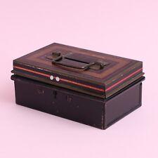 "Vintage ""Chad Valley"" Harborne Metal Coin Money Box Safety Deposit Box"