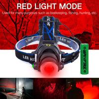 Zoom Red Light LED Headlight Headlamp Fishing Astronomy Aviation Night Vision