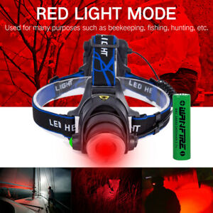 Zoom Red Light LED Headlight Headlamp Fishing Astronomy Aviation Night Vision