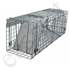 More details for squirrel trap heavy duty metal humane live vermin pest animal large cage catcher