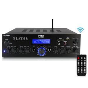 Pyle PDA65BU Compact Power Digital Amplifier Bluetooth Stereo USB Receiver