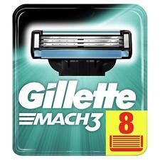 GILLETTE Mach 3 LAME Nuovo di zecca/CARTUCCE 100% Autentico - 8 LAME