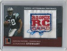 2008 TOPPS LETTERMAN JONATHAN STEWART AUTO ON ROOKIE PATCH 7/19 PANTHERS