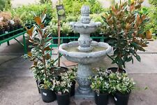 GRC Outdoor Garden Patio Water Feature Cascading Catania Fountain Moss