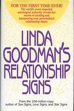 Linda Goodman's Relationship Signs signed 1998 1st. Ed. VG+/NF
