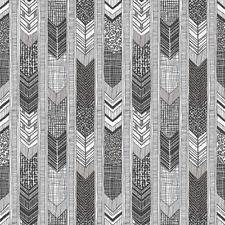 G56382 - Global Fusion Grey Black White Darts & Stripes Galerie Wallpaper
