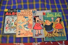 Lot of 4 Vtg DELL Comic Books-This is Your Life DONALD DUCK,Bugs Bunny,2 Little