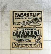 1960 Best Company Of String Puppets In The World, Podrecca's Piccoli Theatre