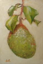 Oil Painting, Jackfruit. Original impressionist still life picture.