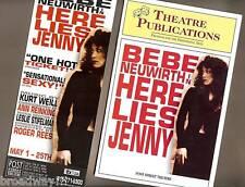"Bebe Neuwirth ""HERE LIES JENNY"" Kurt Weill 2005 San Francisco Playbill and Flyer"